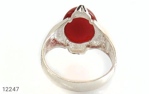 انگشتر عقیق قرمز درشت چهارچنگ مردانه - عکس 5