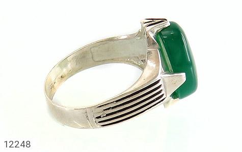 انگشتر عقیق سبز درشت چهارچنگ مردانه - عکس 3