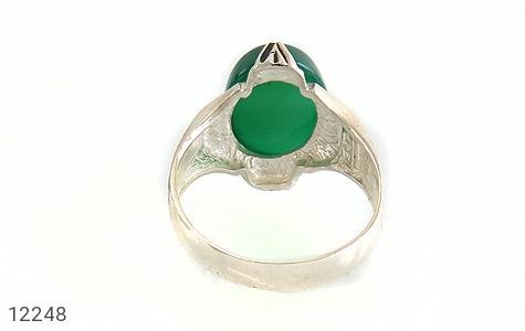 انگشتر عقیق سبز درشت چهارچنگ مردانه - عکس 5