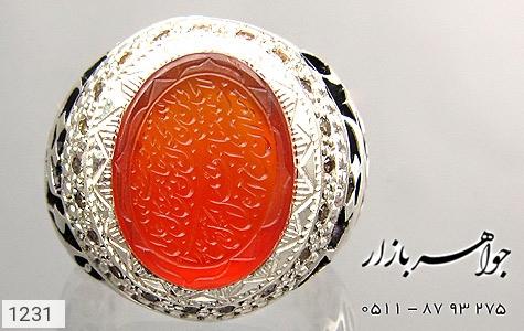 انگشتر عقیق یمن لوکس حکاکی و من یتق الله استاد فرج قلم زنی یا کافی المهمات دست ساز - تصویر 2