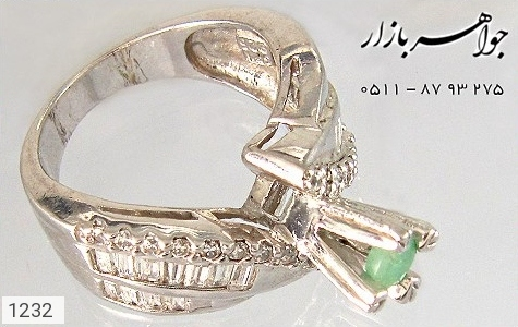 انگشتر زمرد سولیتر زنانه - عکس 3