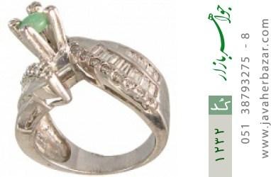 انگشتر زمرد سولیتر زنانه - کد 1232