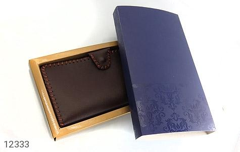 کیف چرم طبیعی تیره دست دوز اسپرت دکمه ای - عکس 7