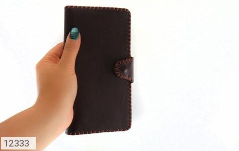 کیف چرم طبیعی تیره دست دوز اسپرت دکمه ای - عکس 9