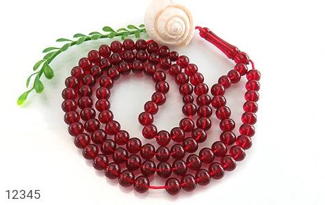 تسبیح سندلوس آلمان 101 دانه سرخ خوش رنگ و ارزشمند - عکس 1