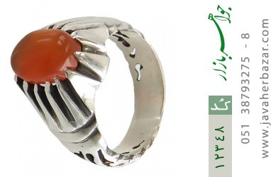 انگشتر عقیق یمن رکاب دست ساز - کد 12348