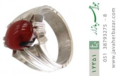 انگشتر عقیق یمن رکاب دست ساز - کد 12351