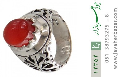 انگشتر عقیق یمن رکاب دست ساز - کد 12352