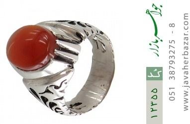 انگشتر عقیق یمن رکاب دست ساز - کد 12355