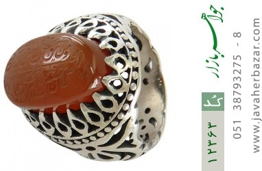 انگشتر عقیق یمن حکاکی و من یتق الله رکاب دست ساز - کد 12363