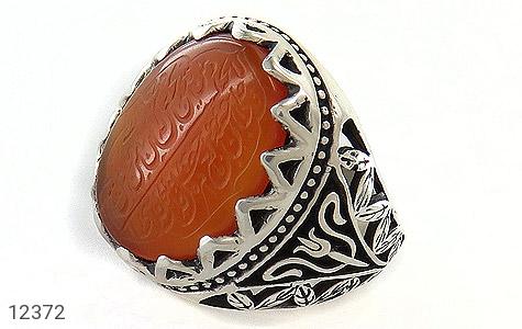 انگشتر عقیق یمن حکاکی و من یتق الله - عکس 1