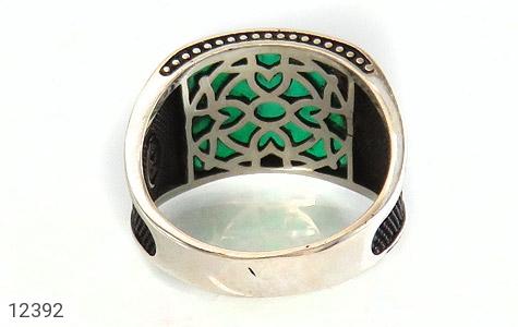 انگشتر عقیق سبز طرح هلال ترک - تصویر 4