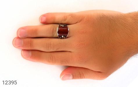 انگشتر عقیق قرمز رکاب هنری ترک - عکس 7