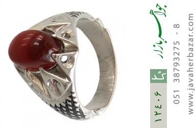 انگشتر عقیق یمن هنر دست استاد شرفیان - کد 12406