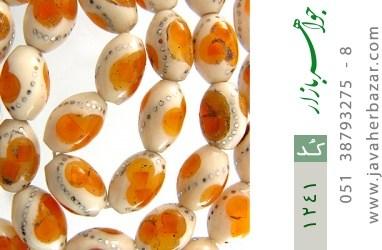 تسبیح استخوان و کهربا مصری - کد 1241