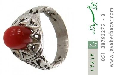 انگشتر عقیق یمن رکاب دست ساز - کد 12413