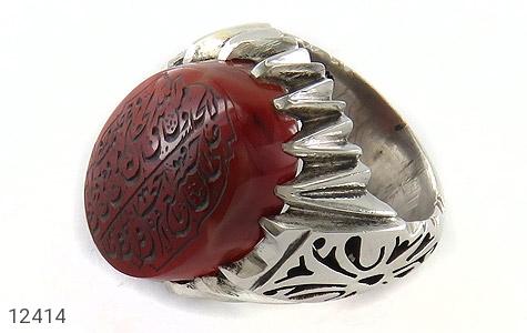 انگشتر عقیق یمن حکاکی و من یتق الله هنر دست استاد احمدی - عکس 1