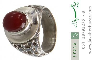 انگشتر عقیق یمن قلم زنی امیری حسین و نعم الامیر - کد 12418