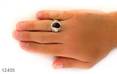انگشتر یاقوت و زمرد و عقیق یمن رکاب دست ساز - تصویر 8