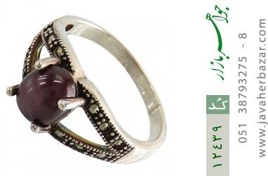 انگشتر یاقوت و مارکازیت سرخ دامله طرح نگار زنانه - کد 12439
