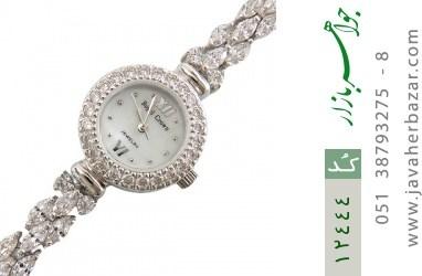ساعت نقره آب رودیوم طرح ارمغان زنانه - کد 12444