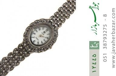 ساعت مارکازیت نقره درشت مجلسی طرح تابان زنانه - کد 12445