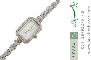 ساعت نقره آب رودیوم درشت طرح پرنسس زنانه - کد 12448