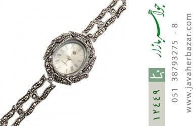 ساعت مارکازیت نقره مجلسی طرح رخساره زنانه - کد 12449