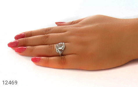 انگشتر دُر نجف طرح شیوا زنانه - عکس 7