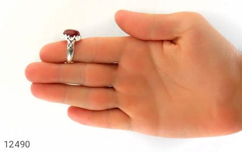انگشتر عقیق سرخ دورچنگ طرح پاشا مردانه - تصویر 8