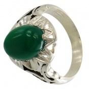 انگشتر عقیق سبز دورچنگ طرح پاشا مردانه
