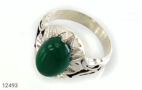 انگشتر عقیق سبز دورچنگ طرح پاشا مردانه - عکس 1