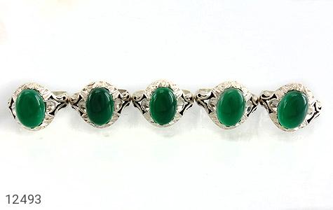 انگشتر عقیق سبز دورچنگ طرح پاشا مردانه - تصویر 2