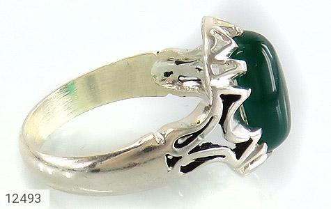 انگشتر عقیق سبز دورچنگ طرح پاشا مردانه - عکس 3