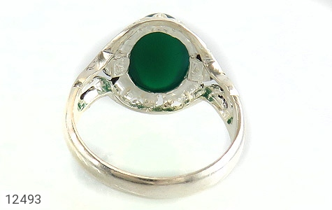 انگشتر عقیق سبز دورچنگ طرح پاشا مردانه - تصویر 4