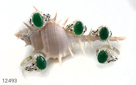 انگشتر عقیق سبز دورچنگ طرح پاشا مردانه - عکس 5