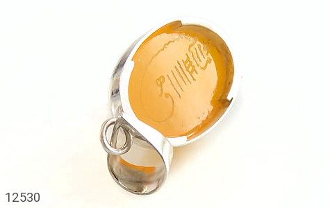 مدال عقیق حکاکی شرف الشمس فریم دست ساز - تصویر 4