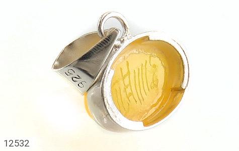 مدال عقیق حکاکی شرف الشمس فریم دست ساز - عکس 3