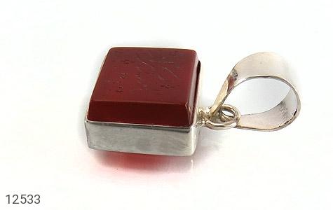 مدال عقیق حکاکی یا حیدر کرار فریم دست ساز - تصویر 2