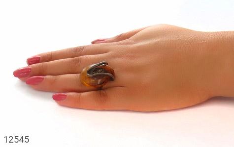 انگشتر کهربا رکاب دست ساز - تصویر 8