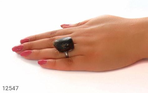 انگشتر کهربا رکاب دست ساز - عکس 9