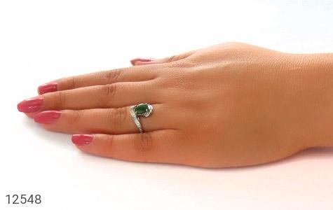 انگشتر زمرد طرح شیدا زنانه - عکس 7