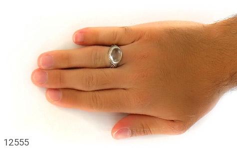 انگشتر دُر نجف رکاب طرح صفوی مردانه - عکس 7
