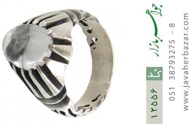 انگشتر دُر نجف برجسته طرح کلاسیک مردانه - کد 12556