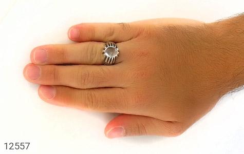 انگشتر دُر نجف طرح کلاسیک مردانه - عکس 7