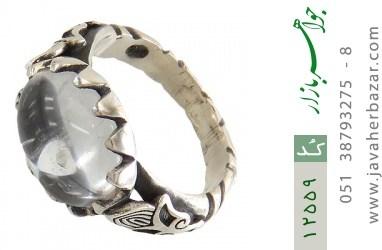 انگشتر دُر نجف صفوی طرح سیاه قلم مردانه - کد 12559