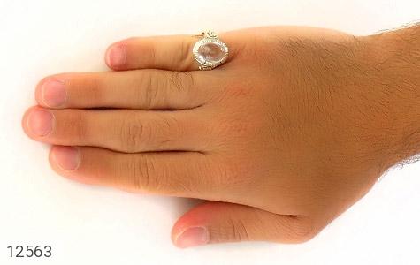 انگشتر دُر نجف درخشان مردانه - عکس 7