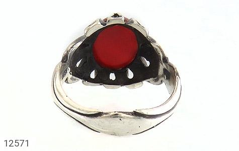 انگشتر عقیق قرمز رکاب اشکی مردانه - تصویر 4