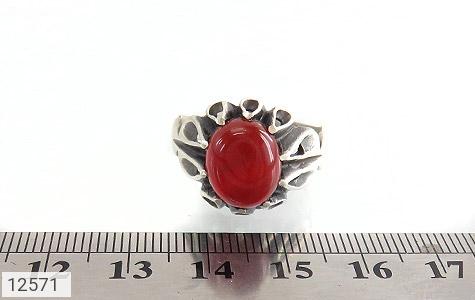 انگشتر عقیق قرمز رکاب اشکی مردانه - تصویر 6
