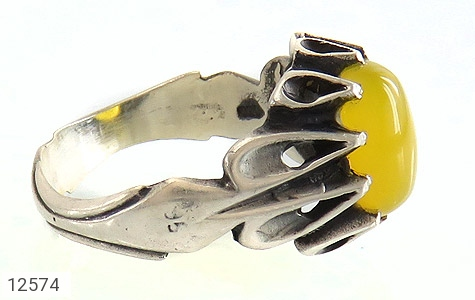 انگشتر عقیق حکاکی شرف الشمس - عکس 3